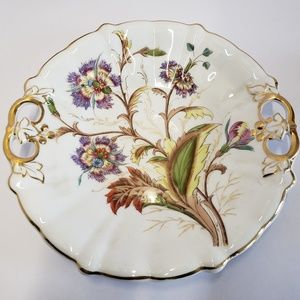 Other - Antique Floral handled plate German 1800s